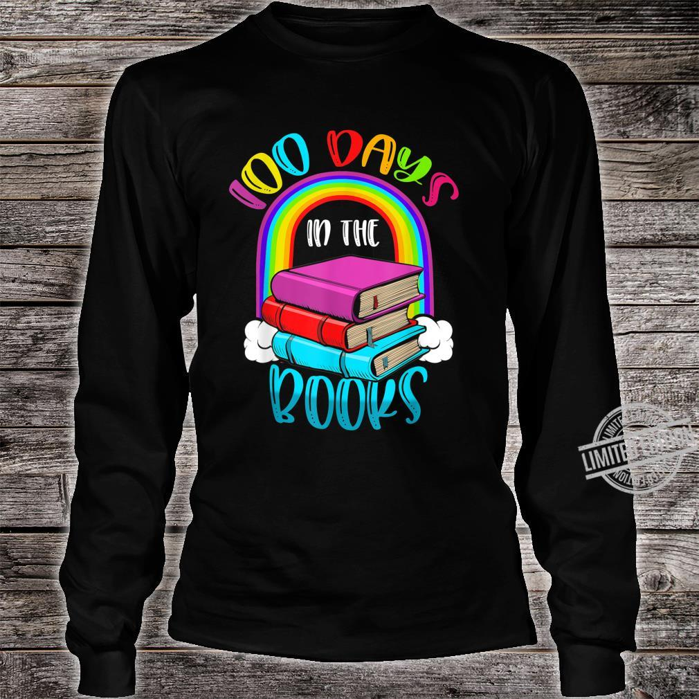 100 Days in the Books Book English Reading Teacher Shirt long sleeved