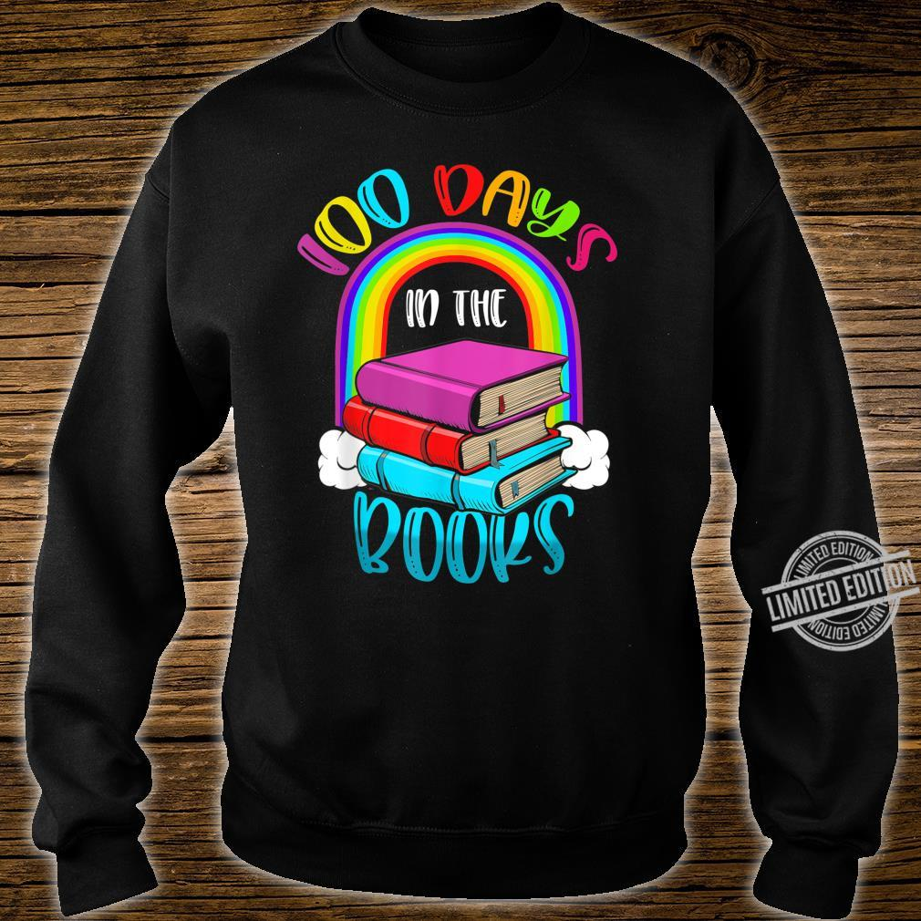 100 Days in the Books Book English Reading Teacher Shirt sweater