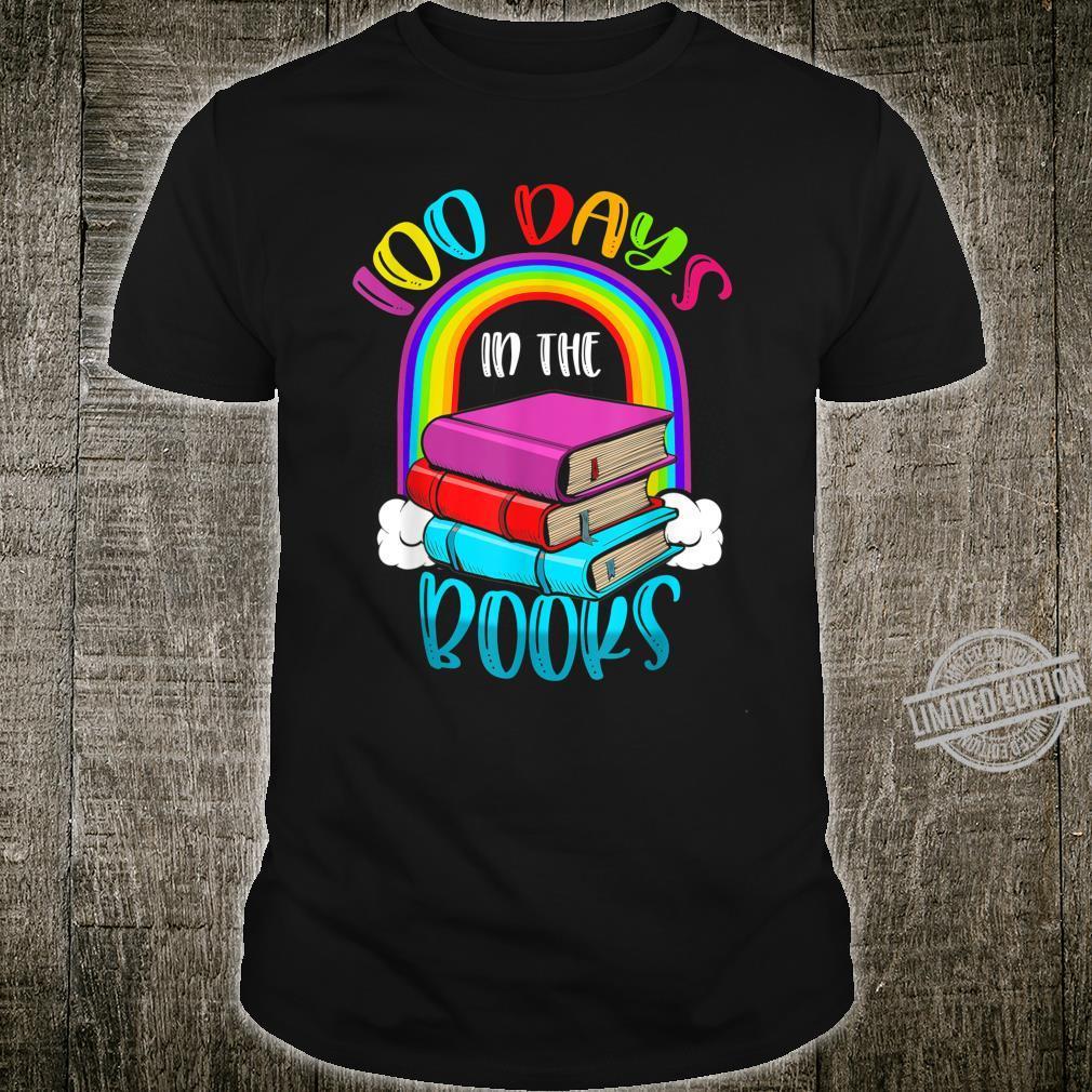 100 Days in the Books Book English Reading Teacher Shirt