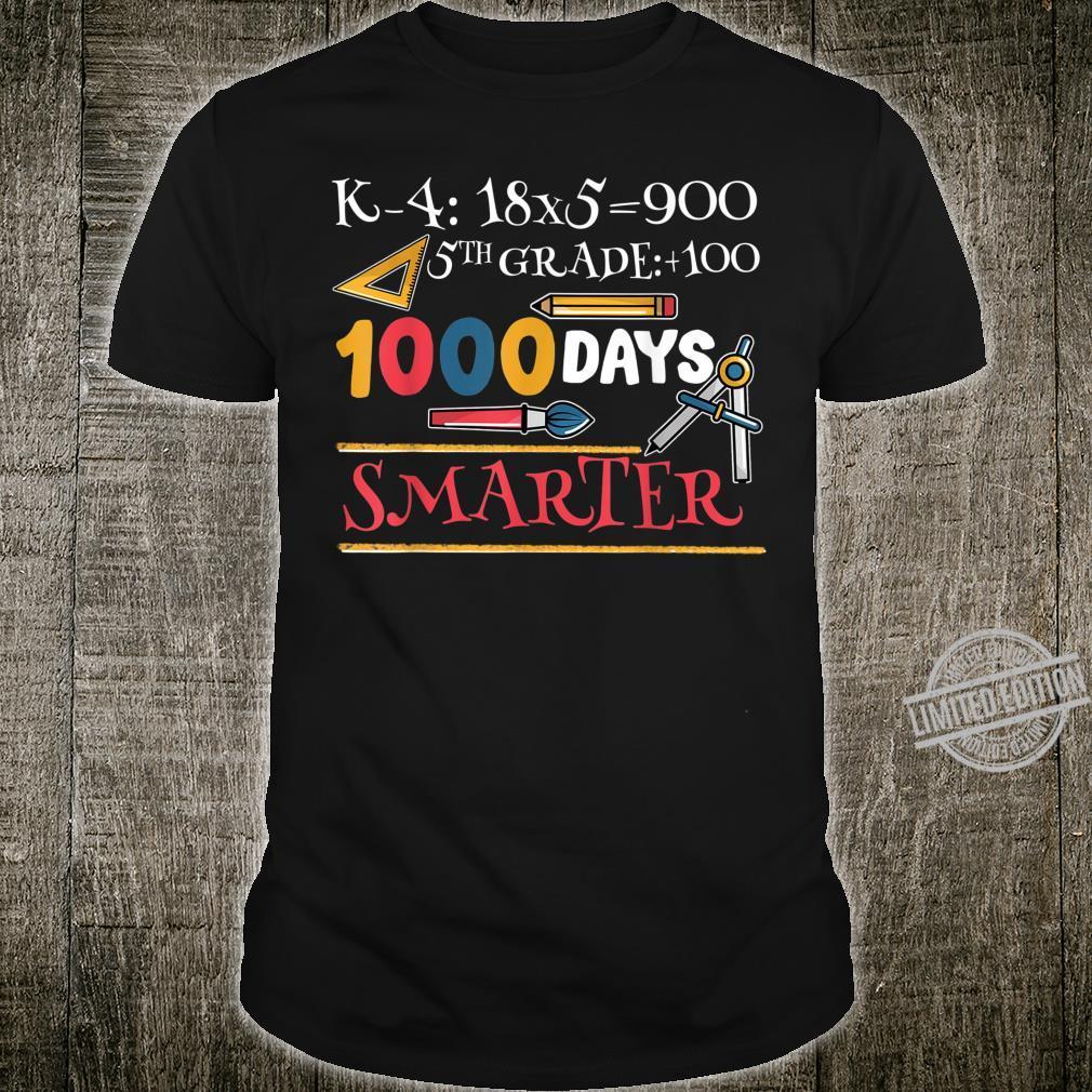 1000 Days Smarter Fifth Grade Teacher For Teach Shirt