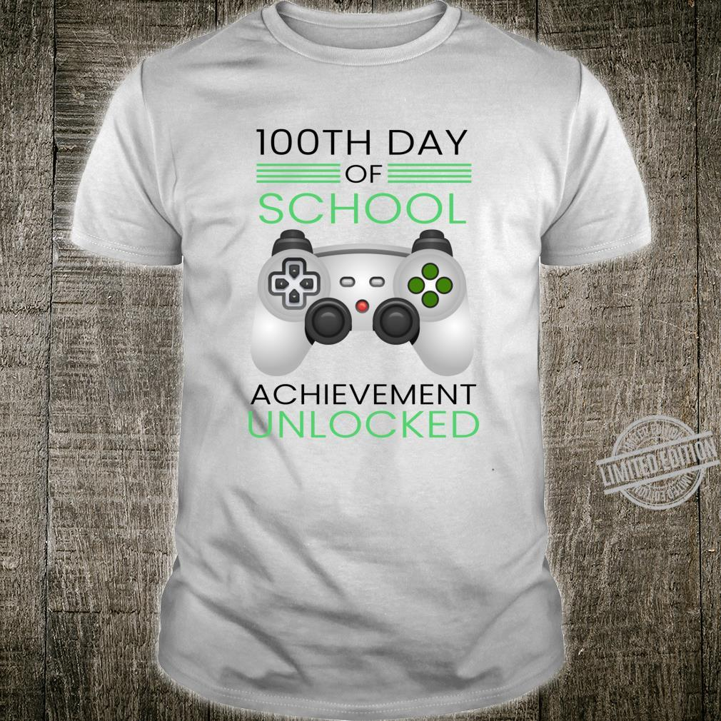 100th Day Of School Video Game Gamer Unlocked Quote Shirt