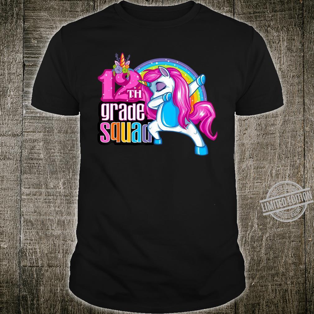 12th Grade Squad Magical Dabbing Unicorn Twelfth Grader Shirt
