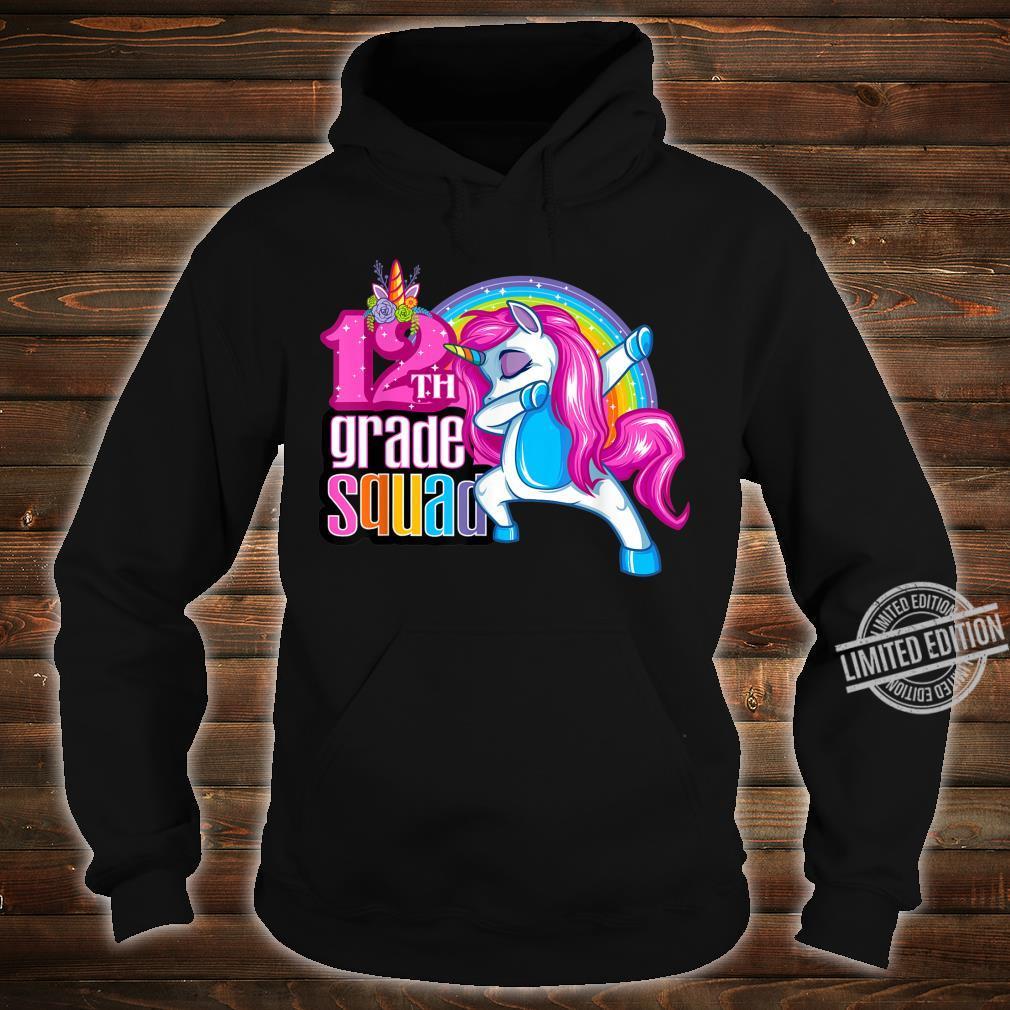 12th Grade Squad Magical Dabbing Unicorn Twelfth Grader Shirt hoodie