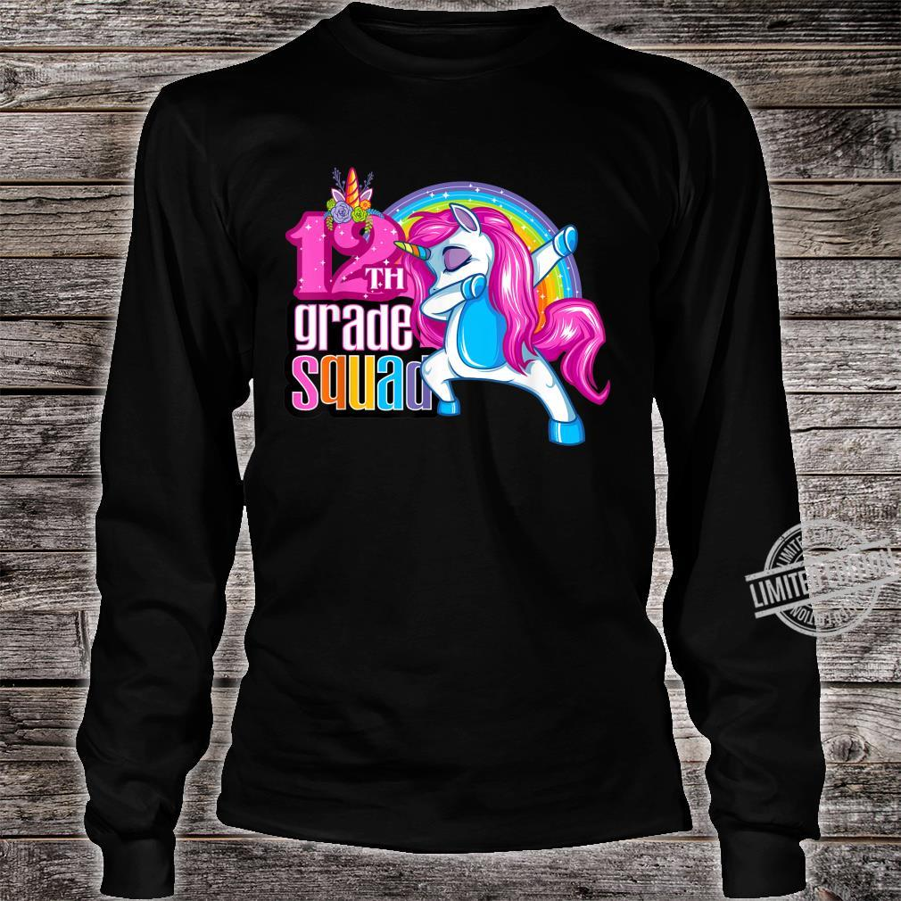 12th Grade Squad Magical Dabbing Unicorn Twelfth Grader Shirt long sleeved