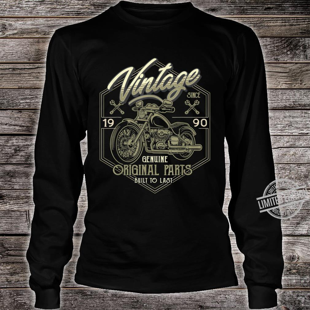 30th Birthday 1990 Vintage Classic Motorcycle 30 Years Old Shirt long sleeved