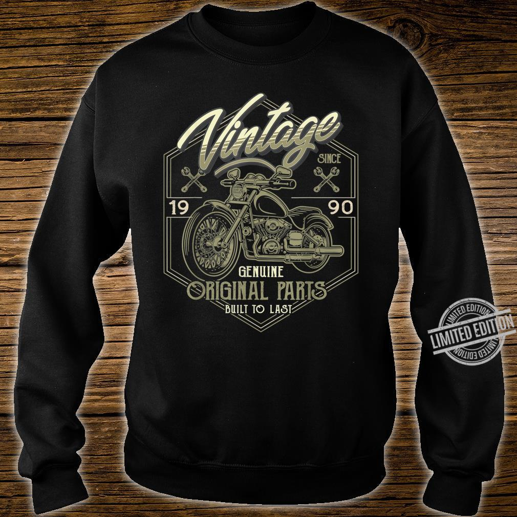 30th Birthday 1990 Vintage Classic Motorcycle 30 Years Old Shirt sweater