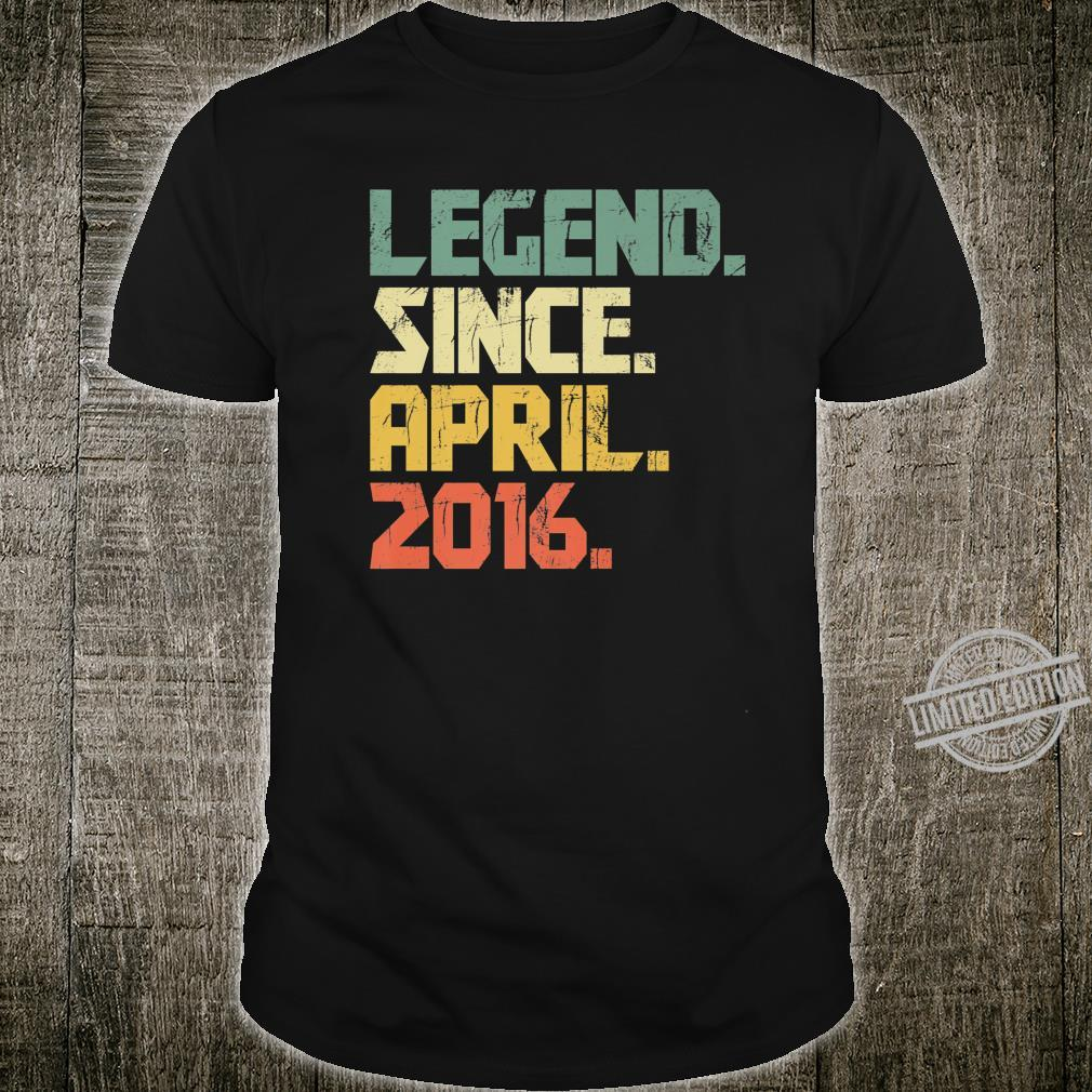 4 years old Shirt Legend Since April 2016 Shirt