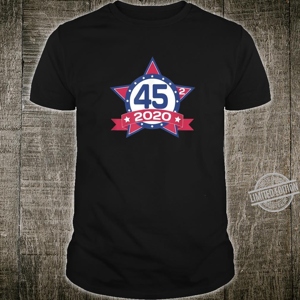 45 Squared Trump 2020 Second Term USA American Flag Vintage Shirt
