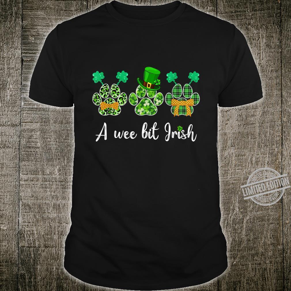 A Wee Bit Irish Dog Shamrock St Patricks Day Shirt
