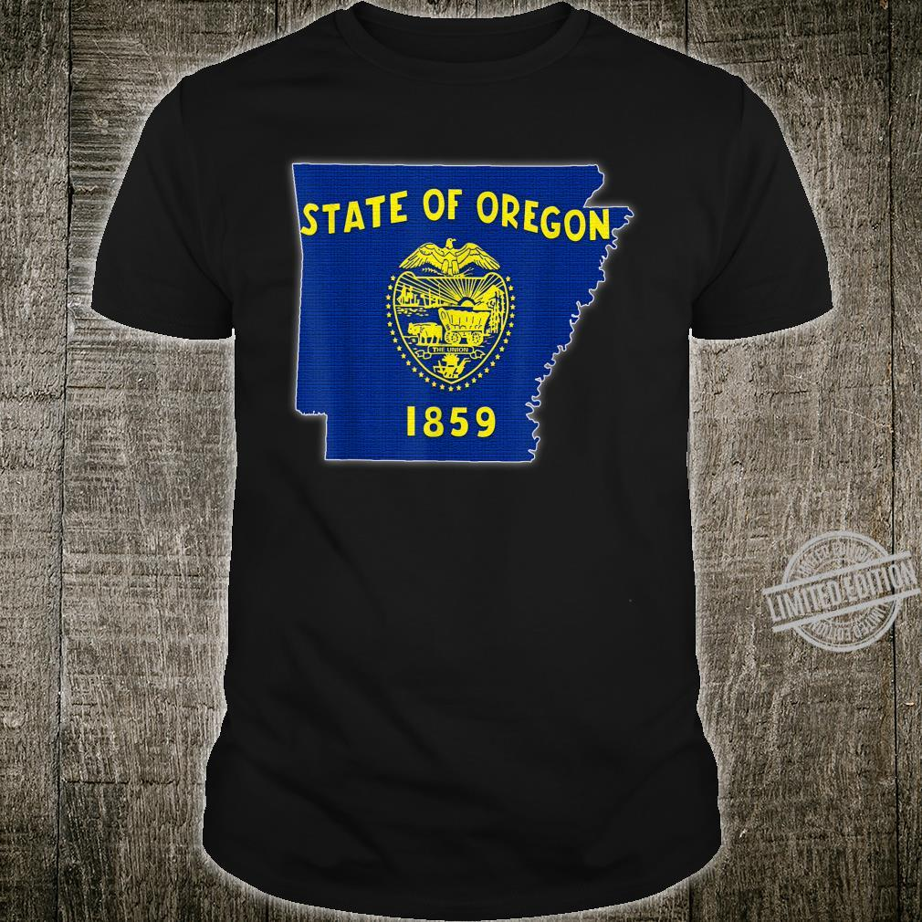 ARKANSAS STATE MAP OREGON OR Flag Roots Shirt