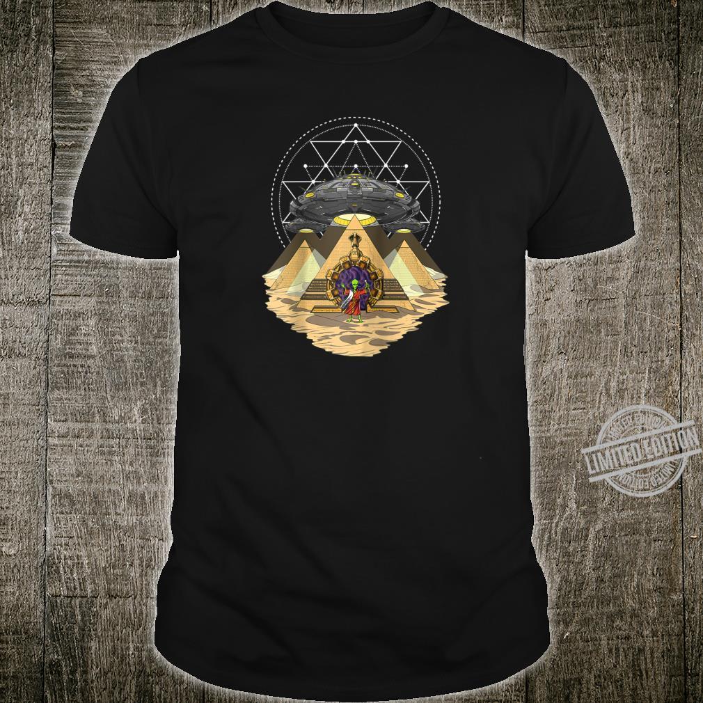 Alien Abduction Egyptian Pyramids Anunnaki Sacred Geometry Shirt