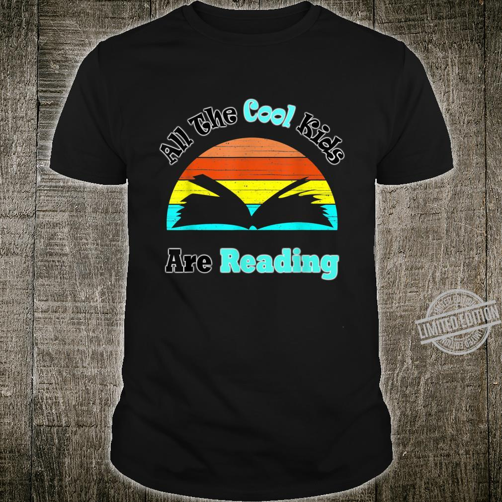 All the Cool Are Reading Vintage For Books Shirt
