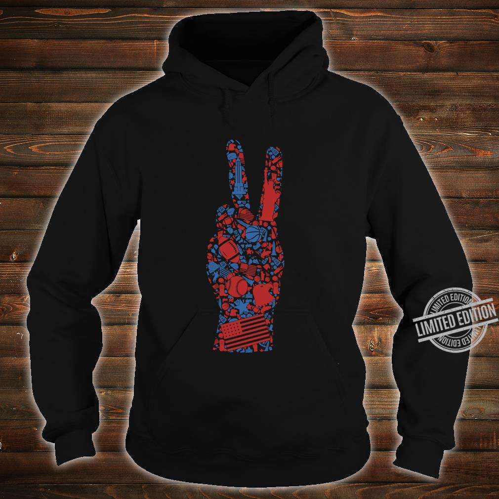 American 4th of July Symbol Shirt Best Patriotic Peace Sign Shirt hoodie