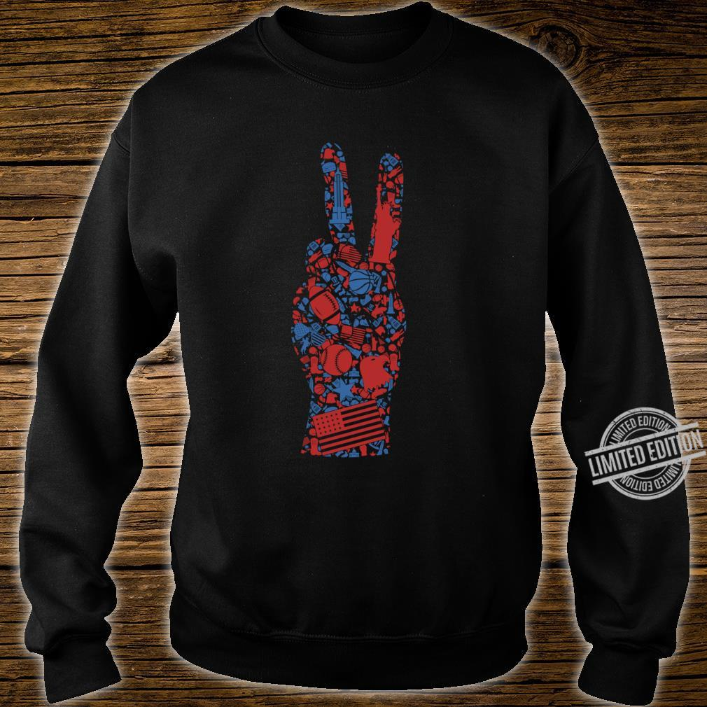 American 4th of July Symbol Shirt Best Patriotic Peace Sign Shirt sweater