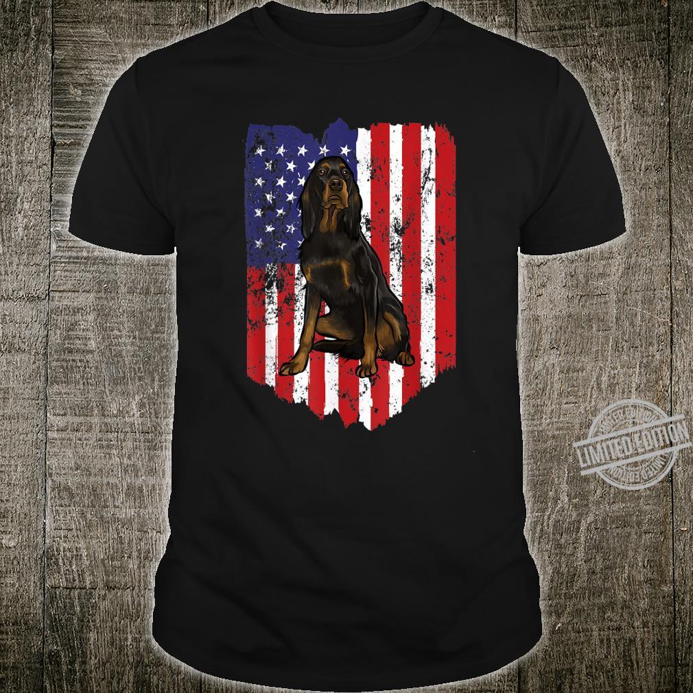American Flag Gordon Setter 4th Of July USA Shirt