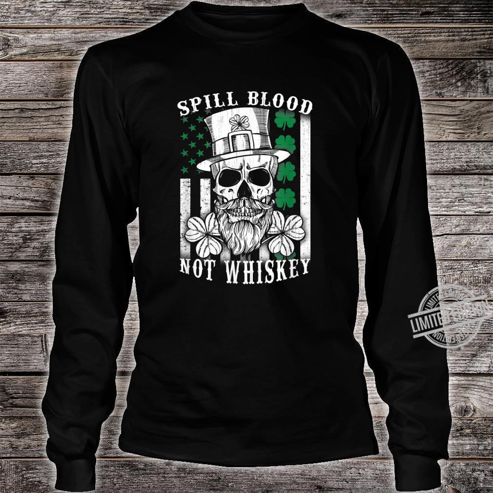 American Irish Flag Whiskey Pub Drinking Shirt long sleeved