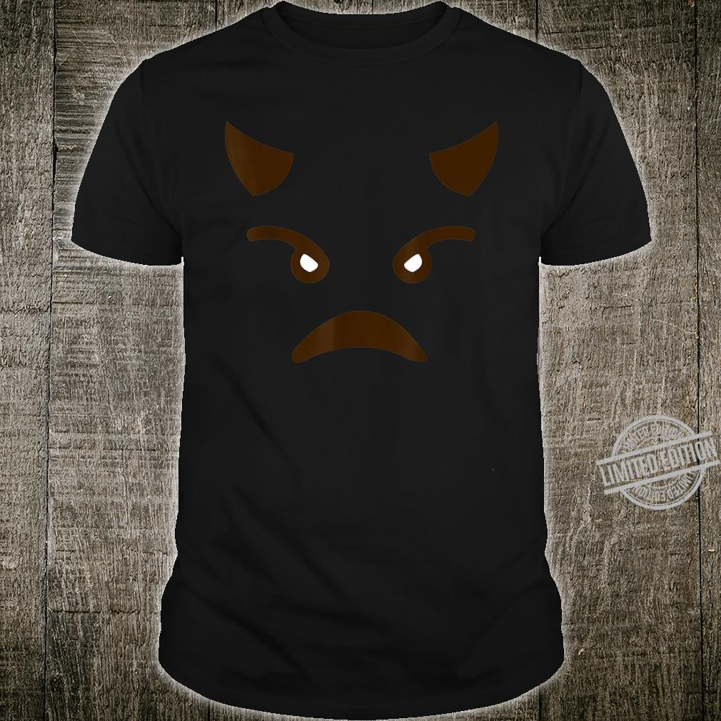 Angry Devil Face Emoticon Costume Easy Halloween Shirt