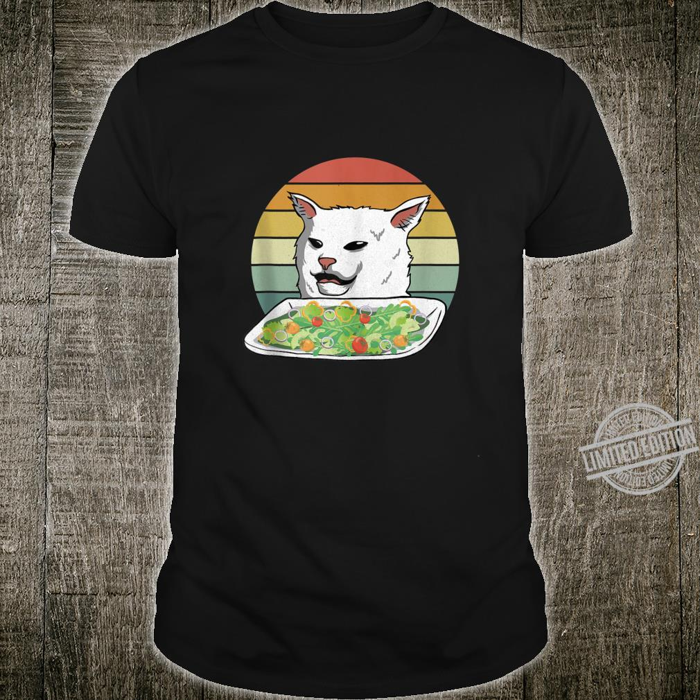 Angry Yelling At Confused Cat At Dinner Table Meme Cat Shirt