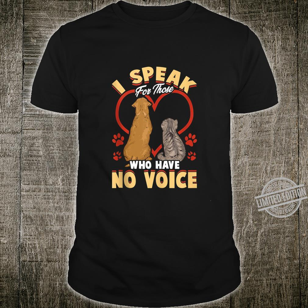Animal Love Speak For Cats and Dogs Shirt