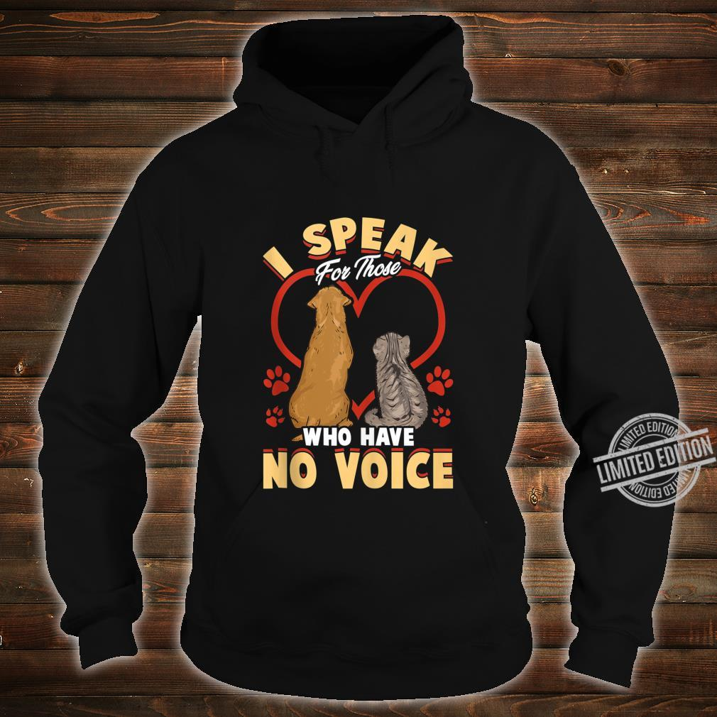 Animal Love Speak For Cats and Dogs Shirt hoodie