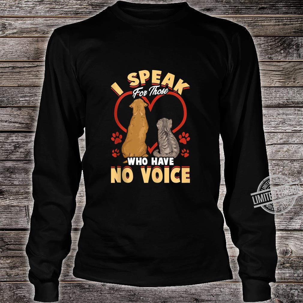 Animal Love Speak For Cats and Dogs Shirt long sleeved