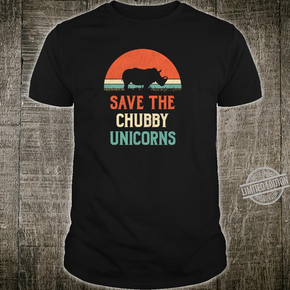 Animal Rights Save The Chubby Unicorns Vintage Rhino Shirt