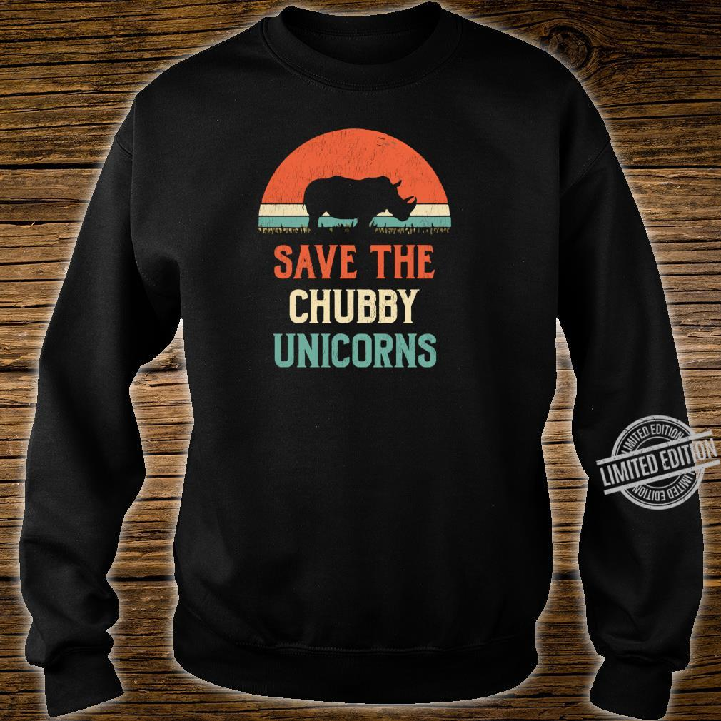 Animal Rights Save The Chubby Unicorns Vintage Rhino Shirt sweater