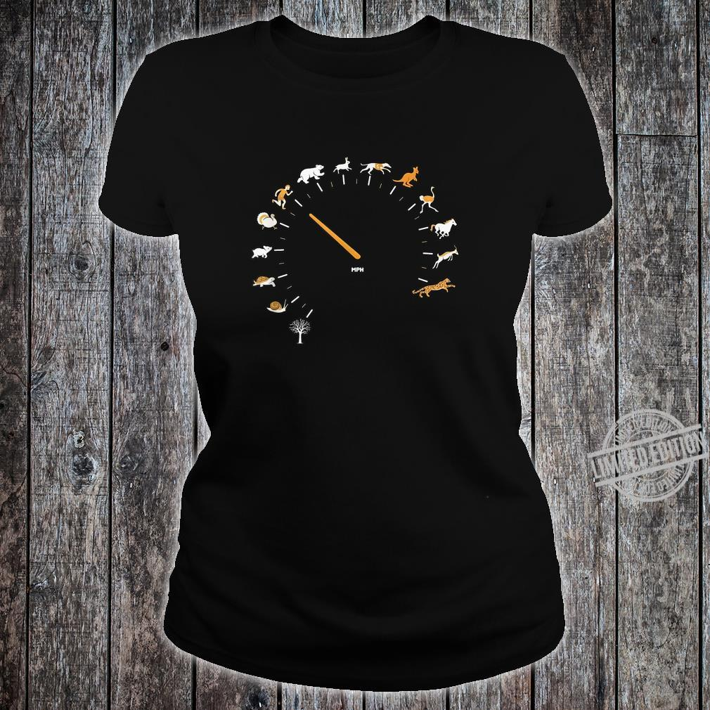 Animal Speedometer Cute Cartoon Nature Race Runner Shirt ladies tee
