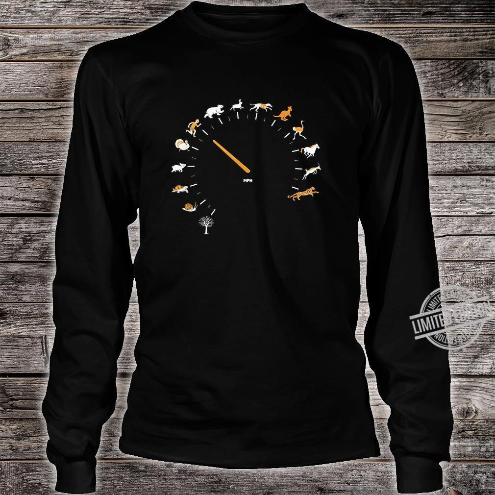 Animal Speedometer Cute Cartoon Nature Race Runner Shirt long sleeved