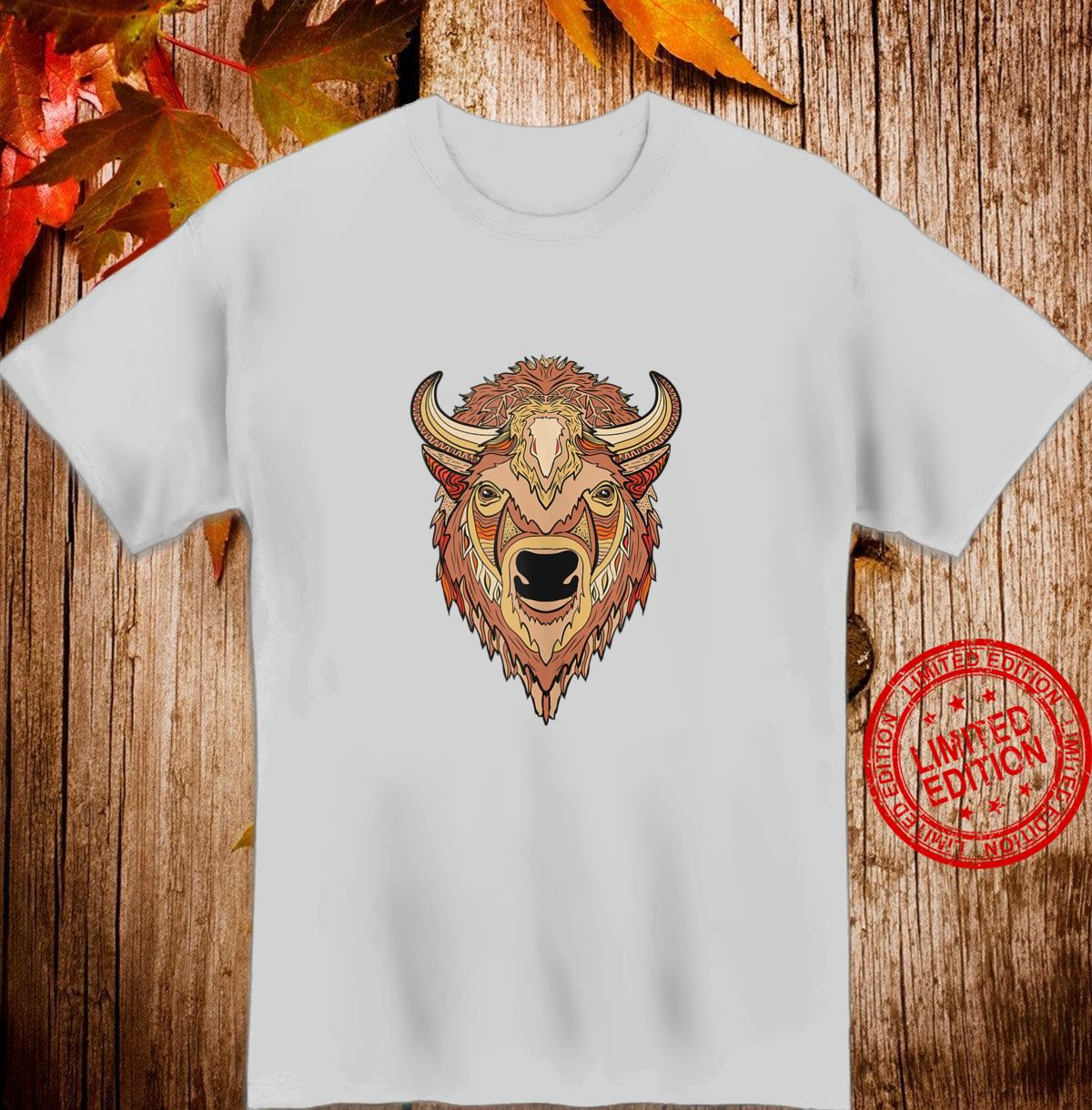 Artistic Bison Buffalo Head Shirt