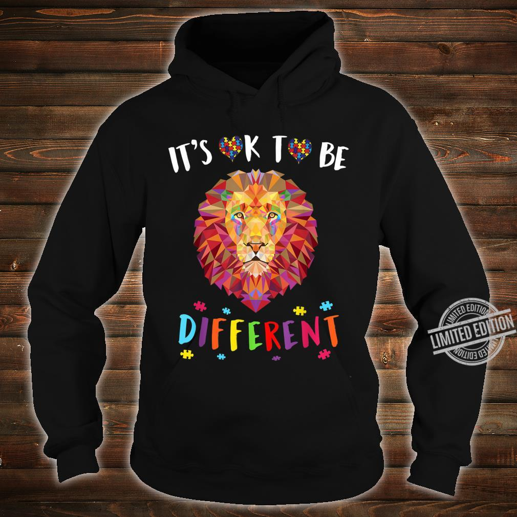 Autism Awareness Shirt It's OK to be different Colorful Lion Shirt hoodie