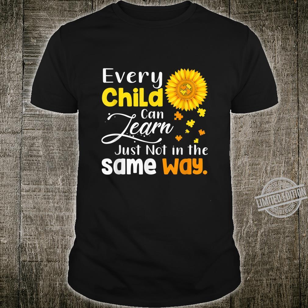 Autism Special Education Teacher Shirt Sunflower Shirt