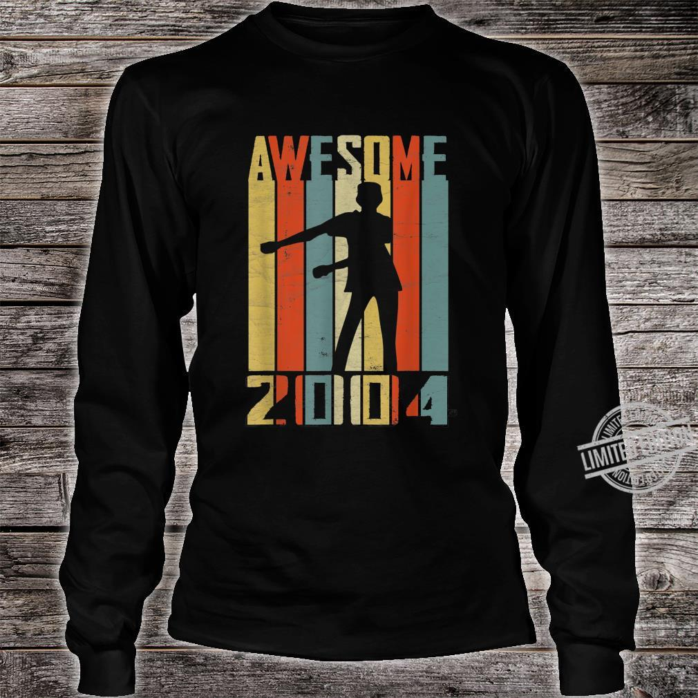 Awesome Since 2004 Vintage Floss Dance 16 Yrs Old Bday Boys Shirt long sleeved