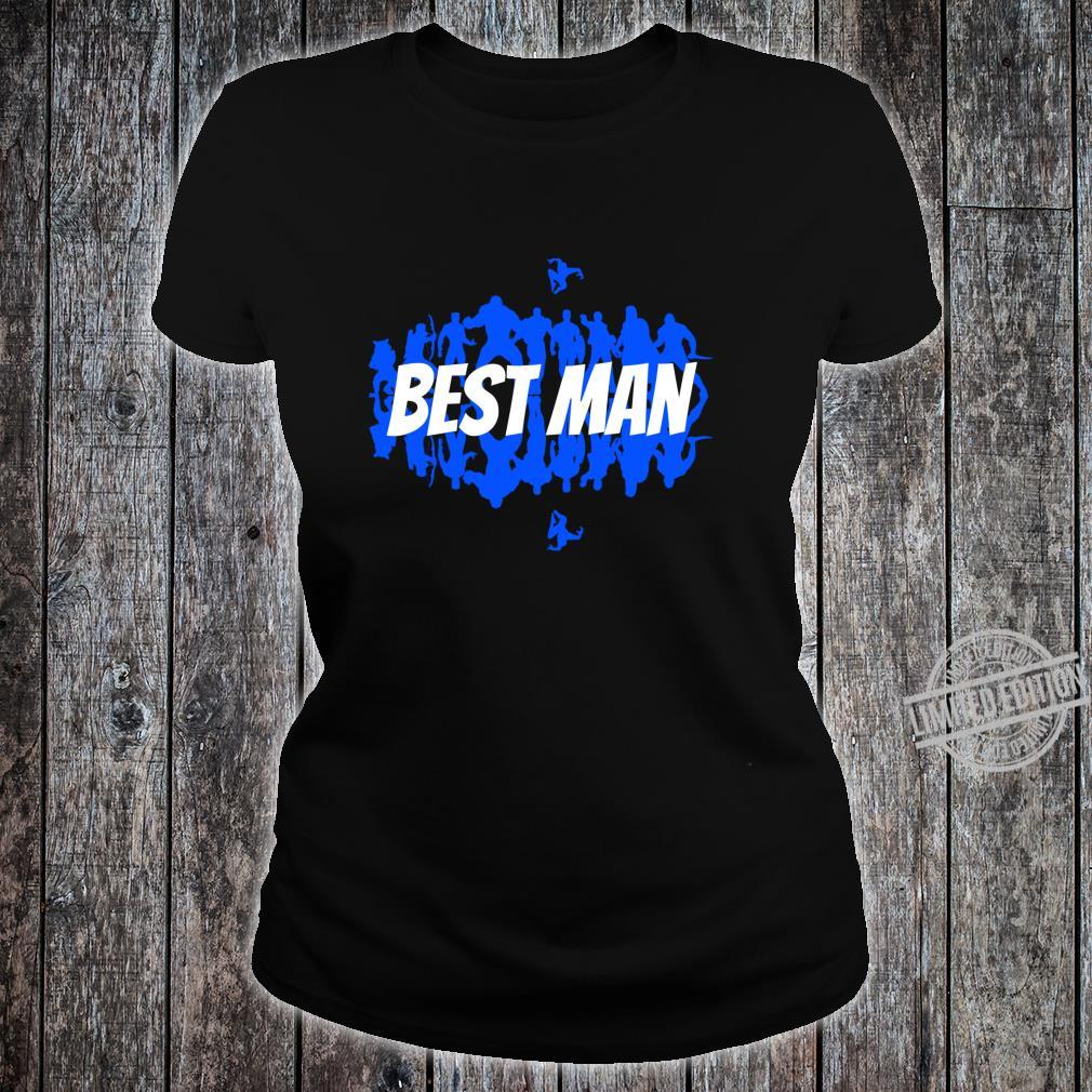 Best Man To The Groom Wedding Party Group, Comic Book Themed Shirt ladies tee