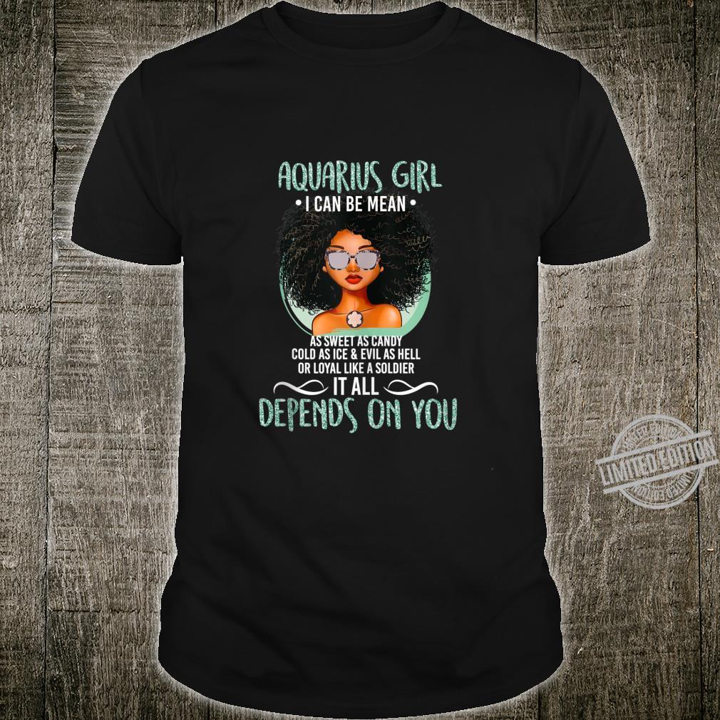 Birthday Aquarius Girl Zodiac Shirt