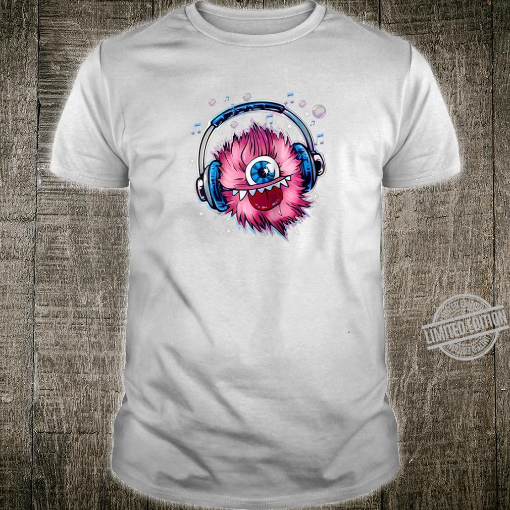 CUTE MONSTER HEADPHONES MUSIC NOTES tee shirt Shirt