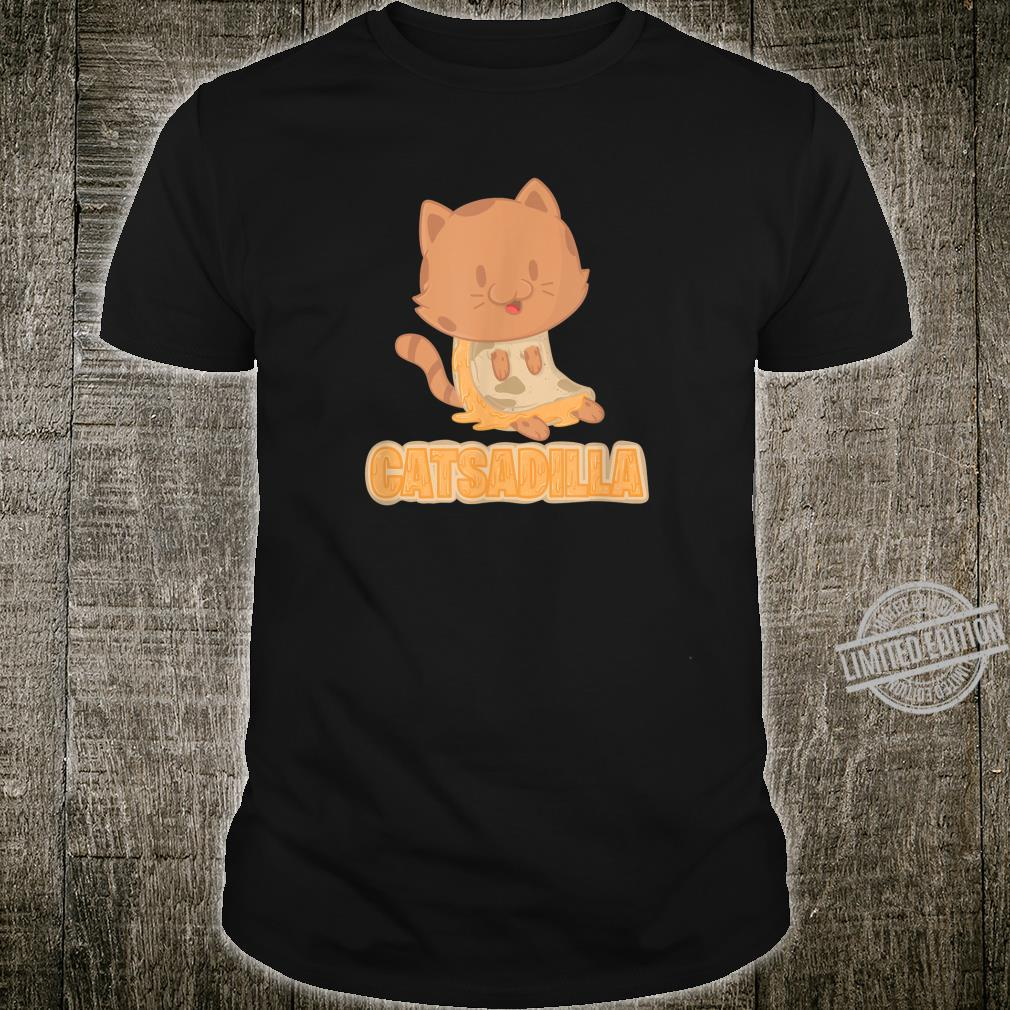 Cheesy Catsadilla Cat Pun Shirt Cute Quesadilla Shirt