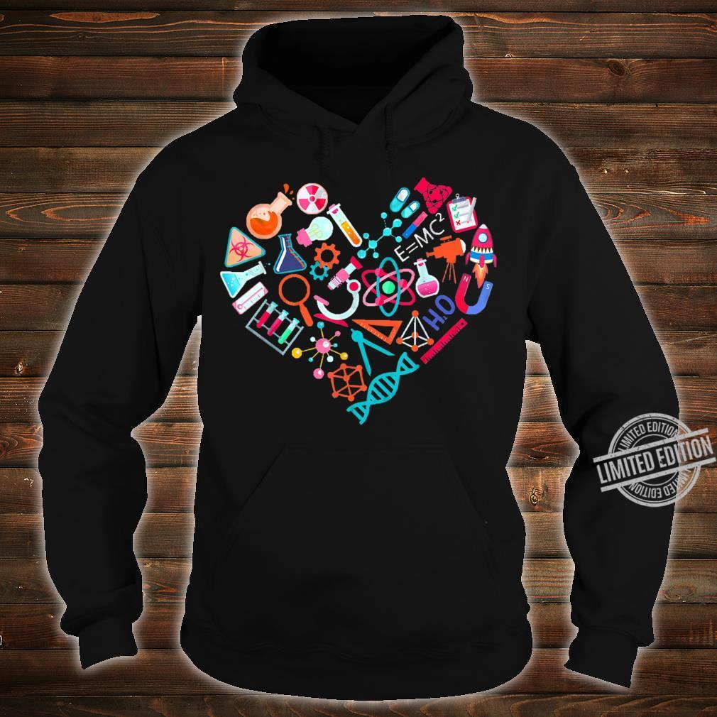 Chemistry Heart for Chemist Teacher or Student Shirt hoodie