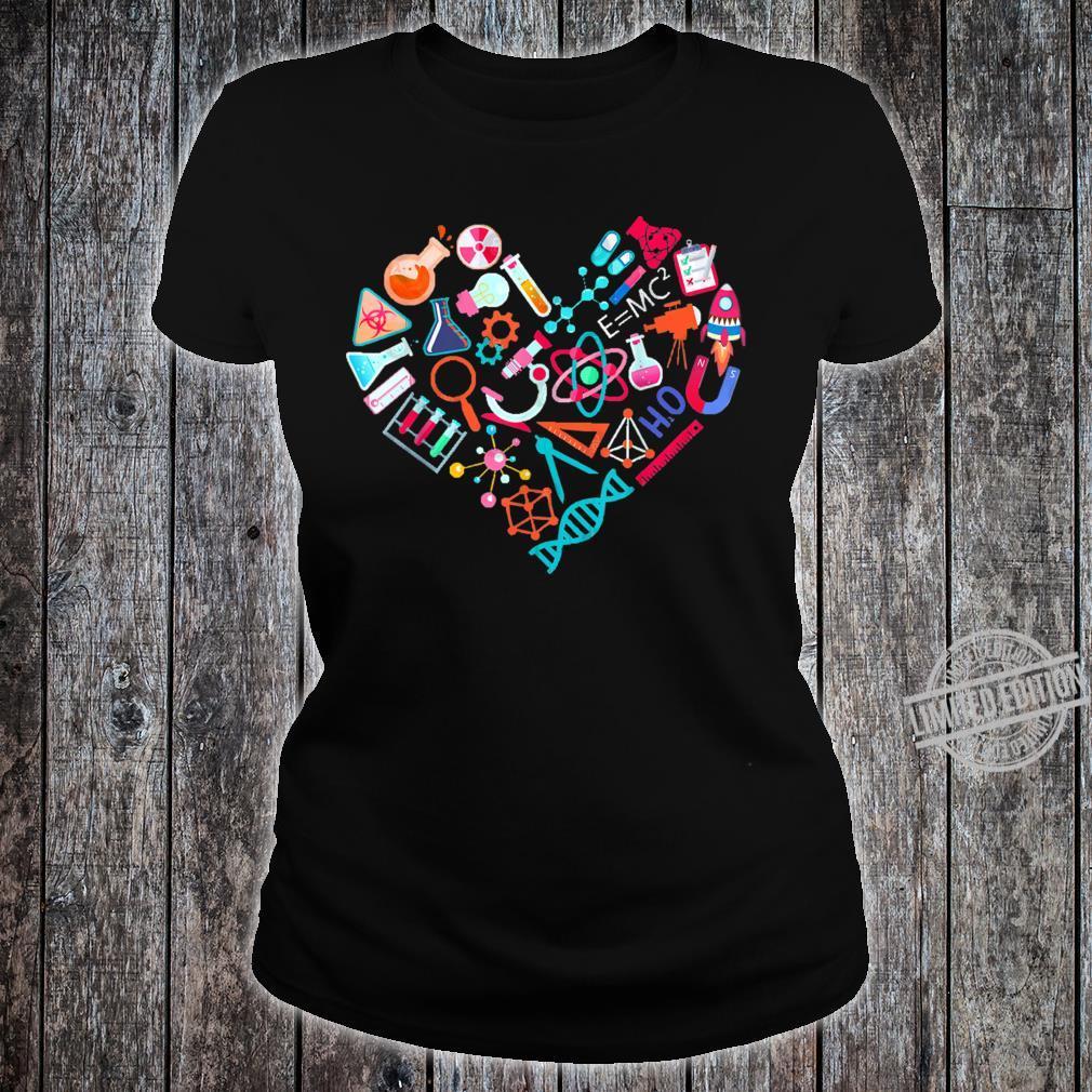 Chemistry Heart for Chemist Teacher or Student Shirt ladies tee
