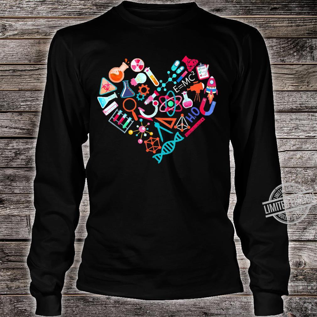 Chemistry Heart for Chemist Teacher or Student Shirt long sleeved