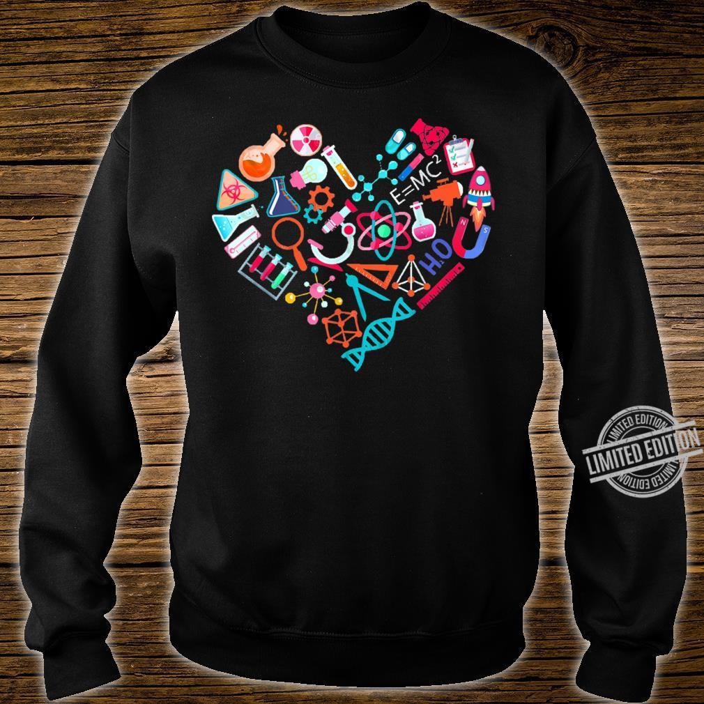 Chemistry Heart for Chemist Teacher or Student Shirt sweater