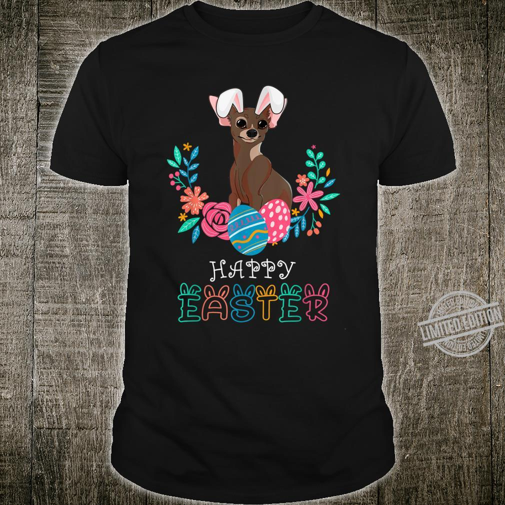 Chihuahua Dog Easter Bunny Costume Happy Easter Shirt