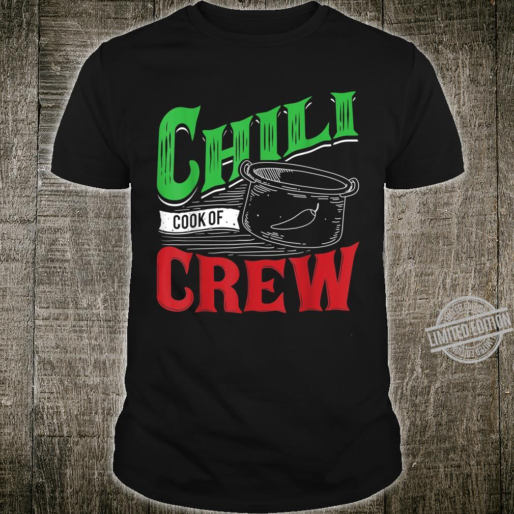 Chili Cook Off Crew Cooking Competition Team Award Shirt
