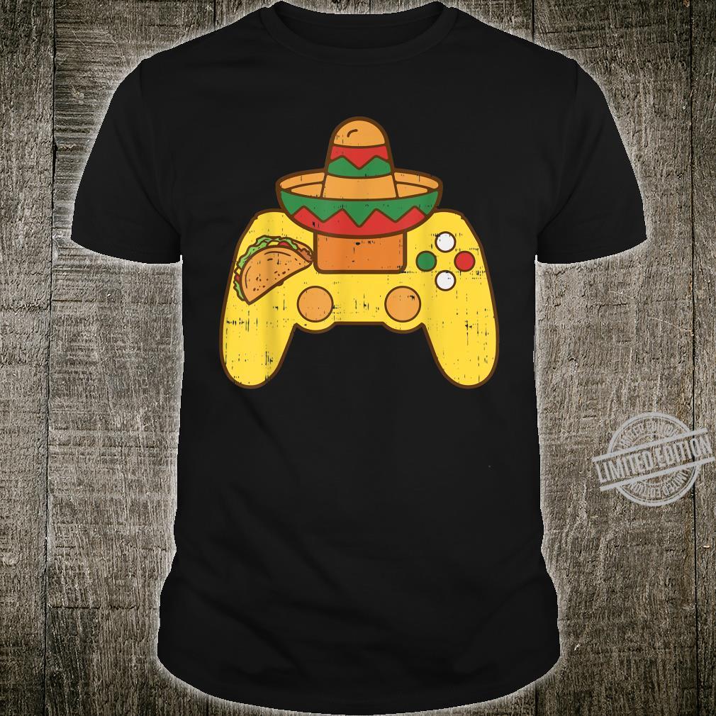 Cinco De Mayo Shirt Mexican Game Controller Gamer Boy Shirt