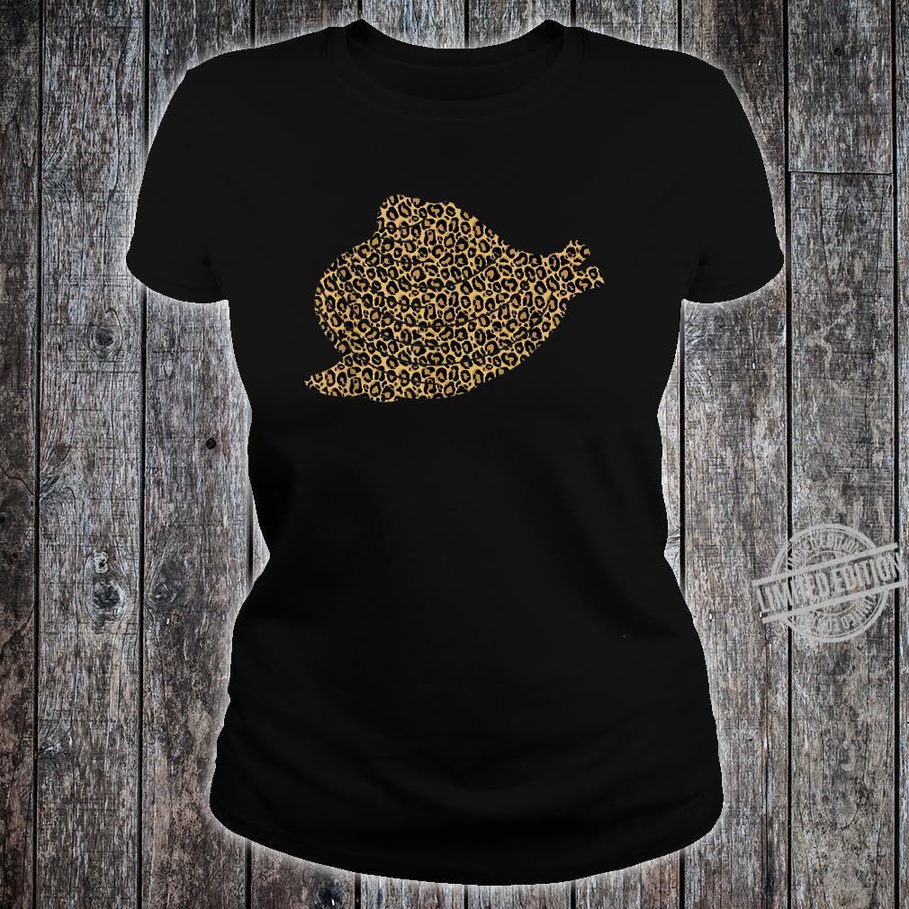 Clam Leopard Print Shellfish Shell Animal Shirt ladies tee