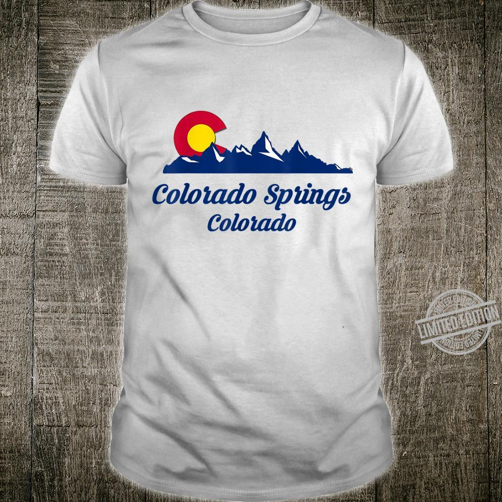 Colorado Springs CO Flaggenstadt Flag City Shirt