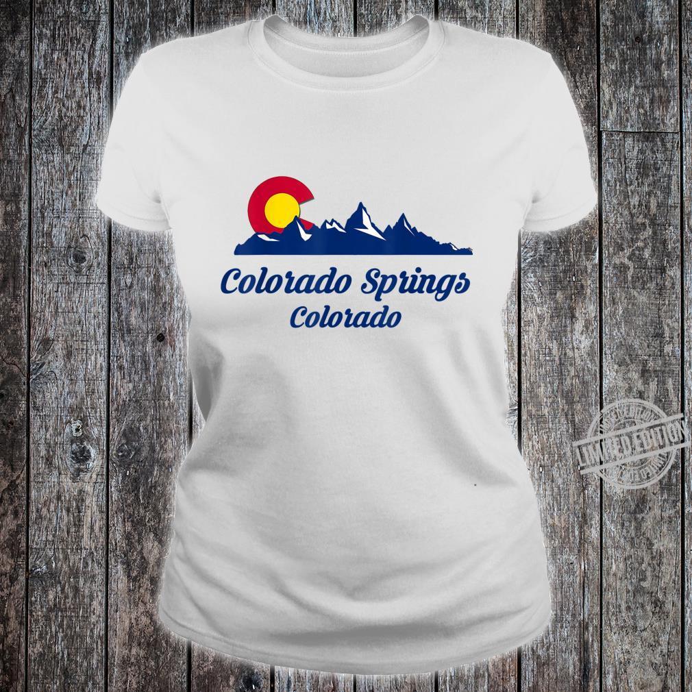 Colorado Springs CO Flaggenstadt Flag City Shirt ladies tee