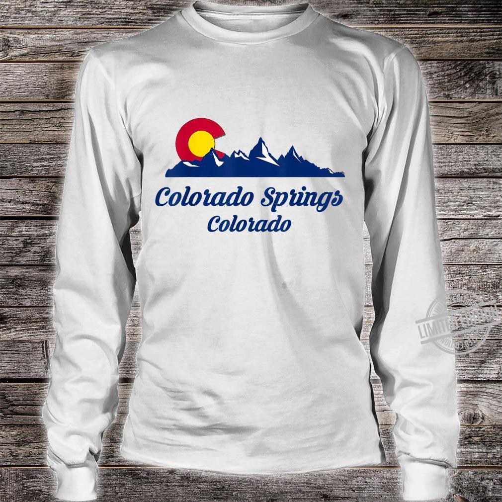 Colorado Springs CO Flaggenstadt Flag City Shirt long sleeved