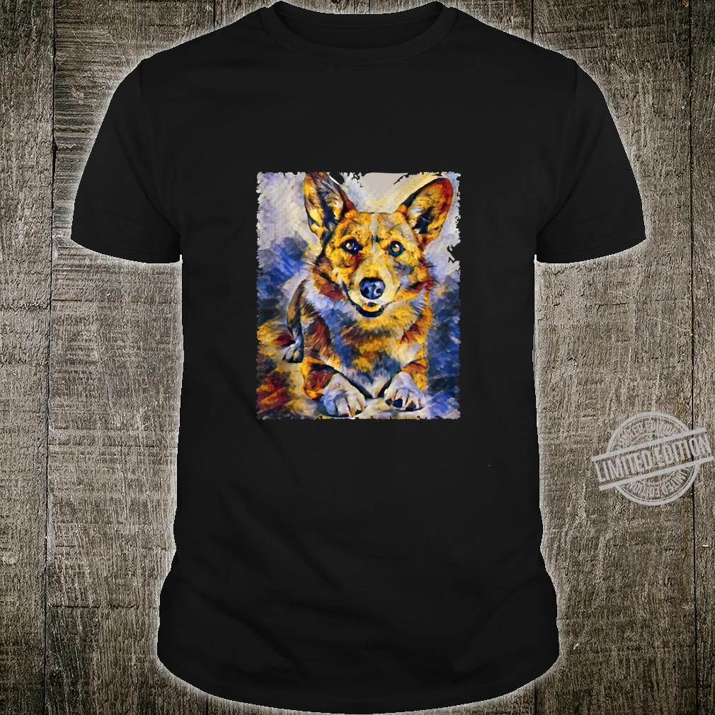 Corgi Dog Art Color Hand Painting Animal Shirt