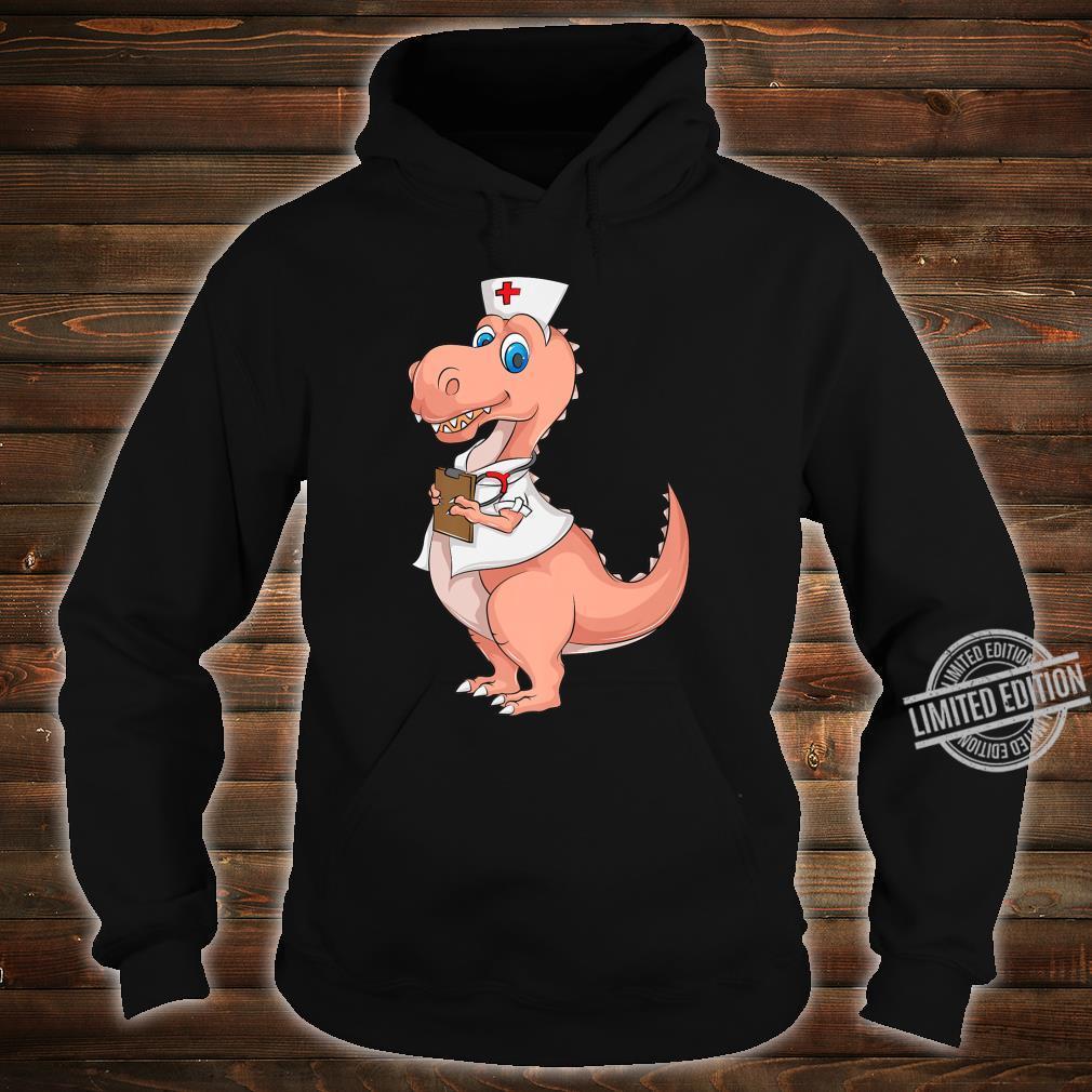 Cute Nurse Dinosaur Love Registered Nursesaurus Shirt hoodie